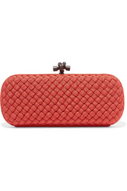 Bottega Veneta The Knot intrecciato grosgrain clutch