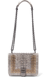 Bottega Veneta Mini studded intrecciato watersnake shoulder bag
