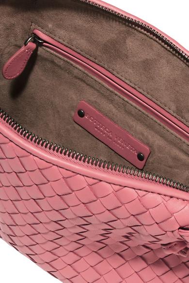 f697a06b80e2 Bottega Veneta. Messenger small intrecciato leather shoulder bag.  948.  Zoom In