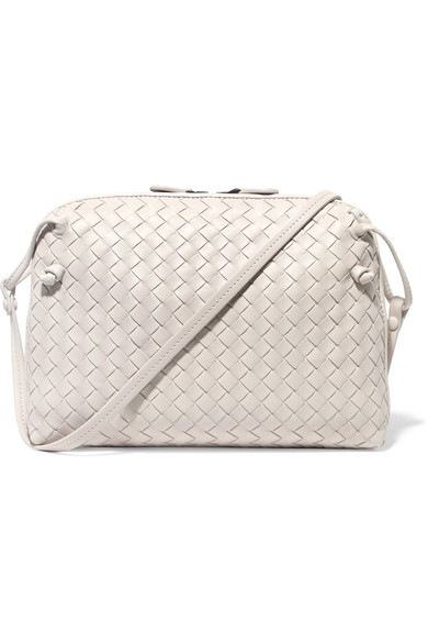 Bottega Veneta. Nodini small intrecciato leather shoulder bag ff9f7db6b9147