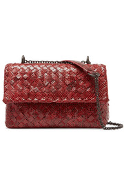 Bottega Veneta Olimpia Baby intrecciato watersnake shoulder bag