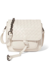 Bottega Veneta Saddle mini intrecciato leather shoulder bag