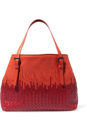 Bottega Veneta Shopper two-tone intrecciato leather tote