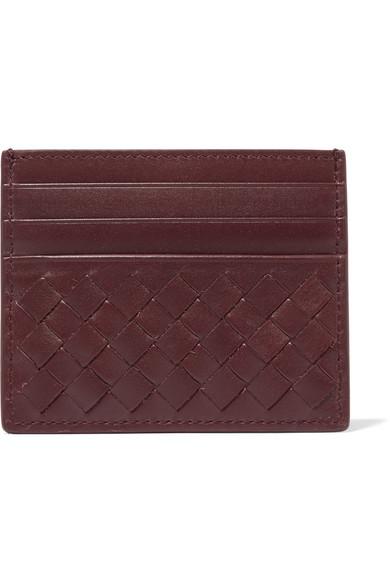 Bottega Veneta - Intrecciato Leather Cardholder - Burgundy