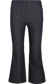 McQ Alexander McQueen Cropped high-rise bootcut jeans