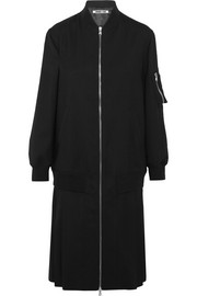 McQ Alexander McQueen Pleated stretch-wool coat