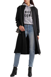 Pleated stretch-wool coat