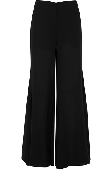 Mcq Alexander Mcqueen Woman Chiffon Wide-leg Pants Black Size 42 Alexander McQueen Clearance Outlet Locations Manchester Cheap Online Sale Amazing Price 100% Authentic tgrHGdmK1s