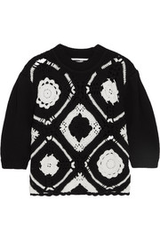 McQ Alexander McQueen Crocheted wool and cotton-blend sweater