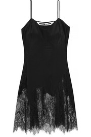 McQ Alexander McQueen Lace-trimmed silk camisole