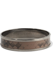 Bottega Veneta Ruthenium-plated enamel bangle