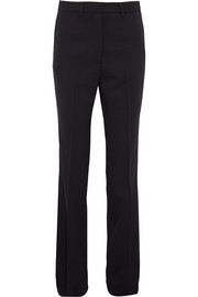 Wool-blend slim-leg pants