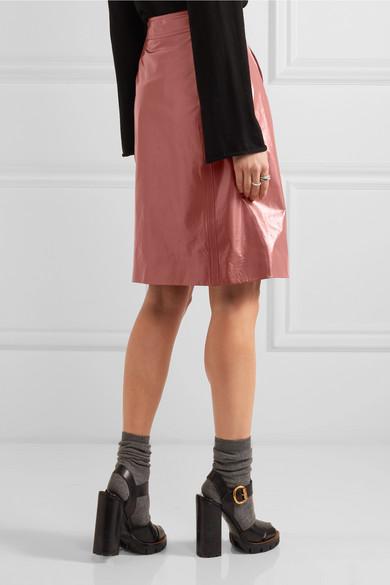 Bottega Veneta | Patent-leather pencil skirt | NET-A-PORTER.COM
