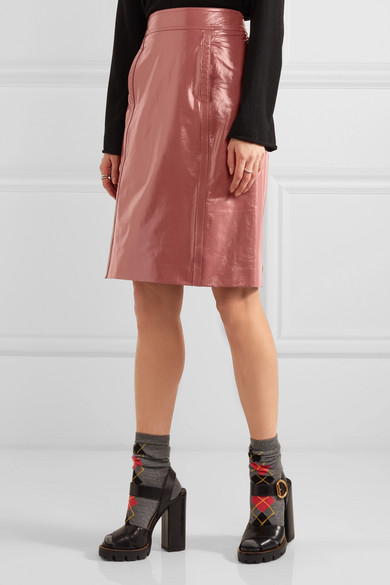 bottega veneta patent leather pencil skirt net a