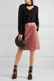 Bottega Veneta Patent-leather pencil skirt
