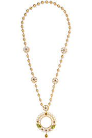 Dolce & Gabbana Gold-tone, enamel and crystal necklace