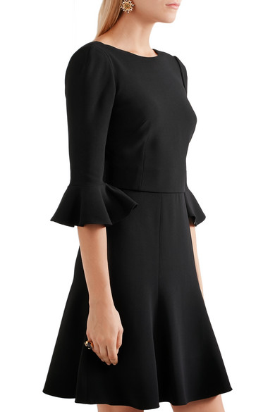 Dolce & Gabbana Woman Open-back Stretch-crepe Dress Black Size 48 Dolce & Gabbana Official Sale Online Discount Affordable Clearance Buy Buy Cheap Really Latest Discount ABslKrDO