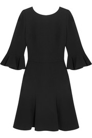 Open-back stretch-crepe dress