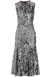 Dolce & Gabbana Sequined tulle midi dress