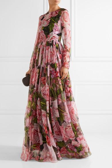 420b1b35 Dolce & Gabbana | Floral-print silk-chiffon gown | NET-A-PORTER.COM