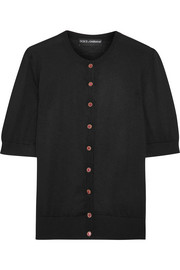 Dolce & Gabbana Embellished silk and cashmere-blend cardigan