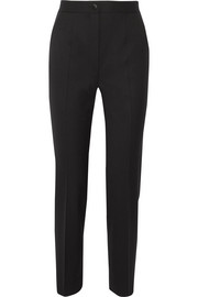 Dolce & Gabbana Satin-trimmed stretch wool-blend straight-leg pants