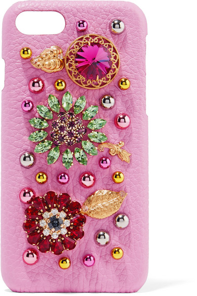 Printed Textured-leather Iphone 7 Case - Leopard print Dolce & Gabbana kLpMfdJ7