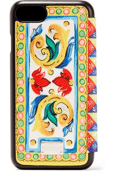 Bedruckte Iphone 7-hülle Aus Strukturiertem Leder - Weiß Dolce & Gabbana MeNyGcp