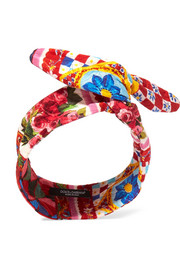 Dolce & Gabbana Cotton-blend brocade headband
