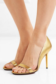 Charlotte Olympia Christine metallic leather pumps