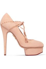 Charlotte Olympia Ophelia suede pumps