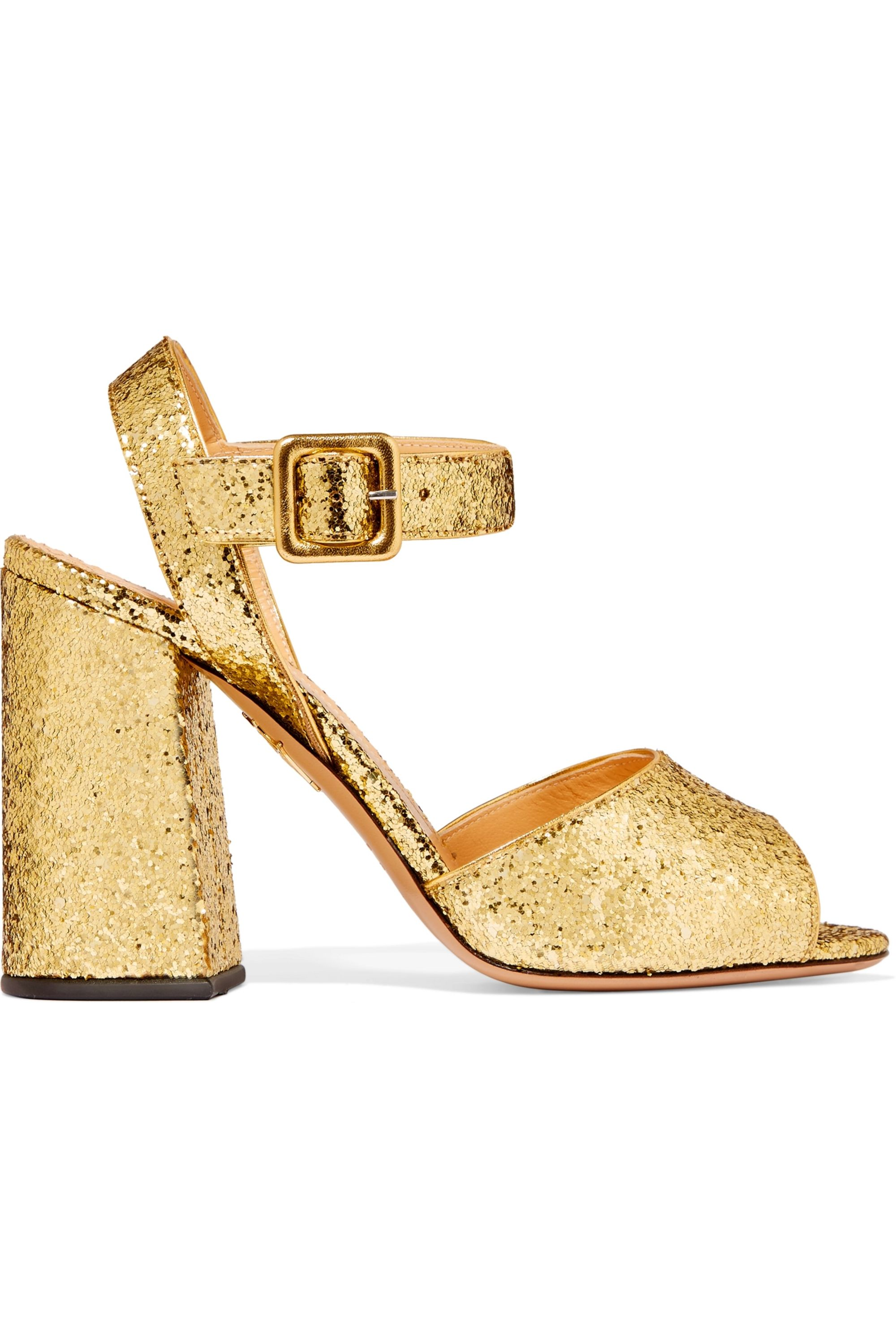 Charlotte Olympia Emma glittered leather sandals