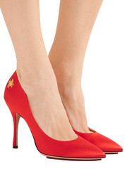 Bacall embellished satin pumps