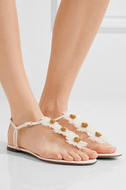 Charlotte Olympia Posey appliquéd leather sandals