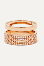 Repossi Berbère 18-karat rose gold diamond ring
