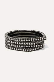 Repossi Antifer 18-karat black gold-washed diamond ring