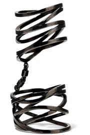 White Noise 18-karat black gold-washed ring
