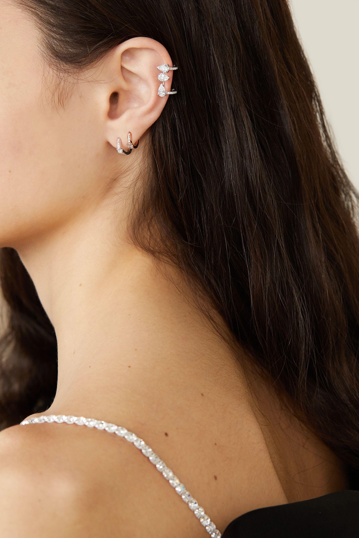 Repossi Serti Sur Vide 18-karat white gold diamond ear cuff