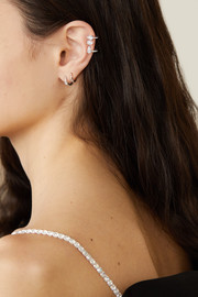 Serti Sur Vide 18-karat white gold diamond ear cuff