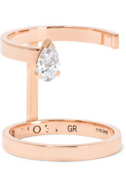 Serti Sur Vide 18-karat rose gold diamond ring