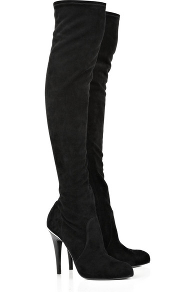 innovative design pretty cheap available Suede thigh-high boots