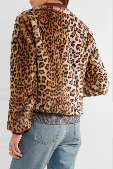 ed58494e47a GANNI | Ferris leopard-print faux fur bomber jacket | NET-A-PORTER.COM