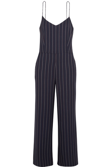 Oakwood Striped Twill Jumpsuit by Ganni