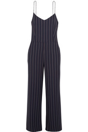 GANNI Oakwood striped twill jumpsuit
