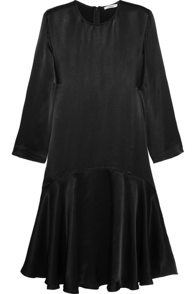 GANNI - Sanders Satin Dress - Black