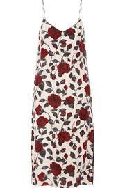 GANNI Elmira floral-print silk crepe de chine dress