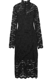 Flynn stretch-lace turtleneck dress