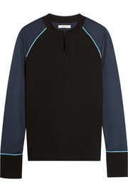 Rogers metallic-trimmed stretch-jersey sweatshirt