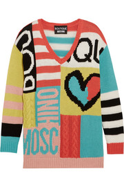 Boutique Moschino Intarsia cotton sweater