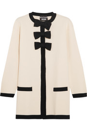 Boutique Moschino Bow-embellished wool and cotton-blend jacket